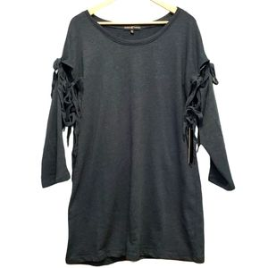 ALMOST FAMOUS TIE SLEEVE FRENCH TERRY TUNIC
